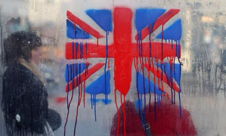 Bleeding UK flag AFP September 2014
