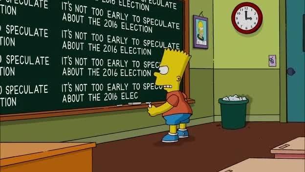 Bart Simpson and the 2016 presidential election